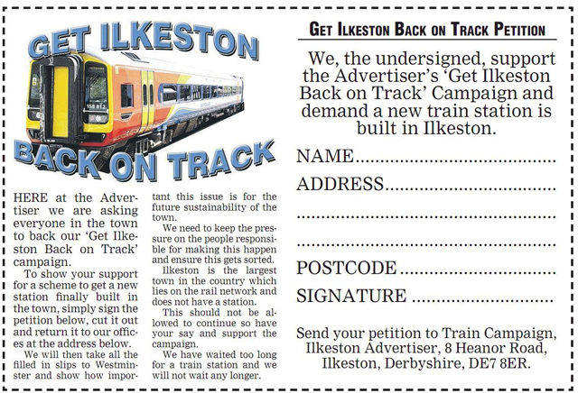 Get Ilkeston Back on Track Campaign