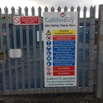 Ilkeston Station Galliford Try construction site notice