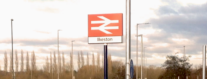 Ilkeston Railway Main Car Park sign