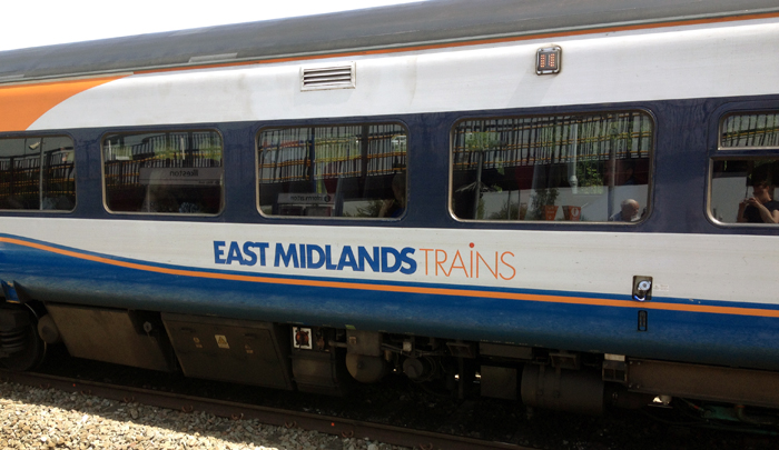 East Midlands Trains branding at Ilkeston